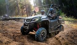 The  Honda Pioneer SxS UTV in the dirt