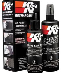 The Recharger Kit comes with an 8 oz bottle of oil and a 12 oz K&N pump bottle of Power Kleen