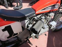 K&N universal pod filters on a Harley-Davidson flat track race motorcycle