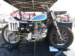 K&N pre-chargers on a flat track racer