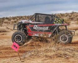 Queen Racing of Lake Havasu City, Arizona racing a UTV in the desert
