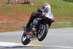 Kyle Wyman racing in the MotoAmerica Superbike class