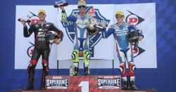 Kyle Wyman on the American Superbike Podium