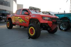 Park on the site was a pickup in full Pixar Cars livery