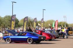 Photo of custom cars on display at the 2017 Southwest Nationals