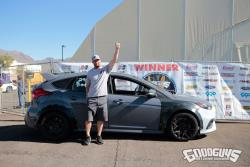 Photo of Eric Sheely and his Ford Focus RS, winner of All American Sunday