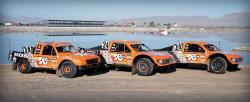 All of Bradley Morris's K&N Filters sponsored trucks ready to do battle in Arizona