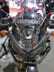 Front view of the Roland Sands Honda Africa Twin at the Long Beach International Motorcycle Show