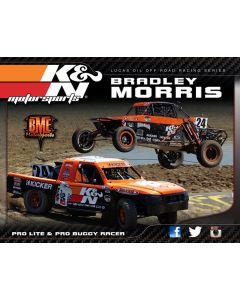 89-11647 Hero Card; Bradley Morris, 8-1/2 X 11