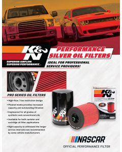 89-11668 POP; Sell Sheet, K&N Silver Series Oil Filter