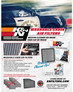 89-11673 K&N POP; Sell Sheet: Police Cabin Air Filter
