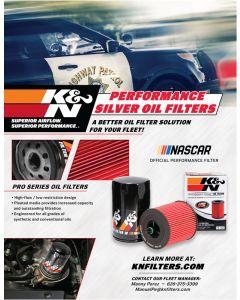 89-11674 K&N POP; Sell Sheet: Police Oil Filter