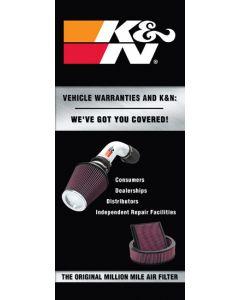 """89-11835-1 Tri-Fold Mini; Warranty Brochure; 8.5"""" X  3-5/8"""""""