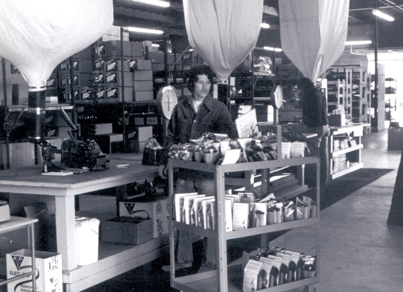George Wilson in the 1970s on the shipping floor