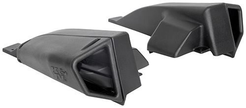 The K&N scoops are designed to increase airflow and improve engine performance
