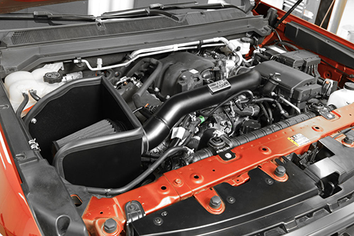 The 71-3104 cold air intake system after installation