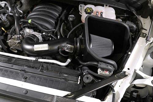 K&N dryflow intake installed in engine bay