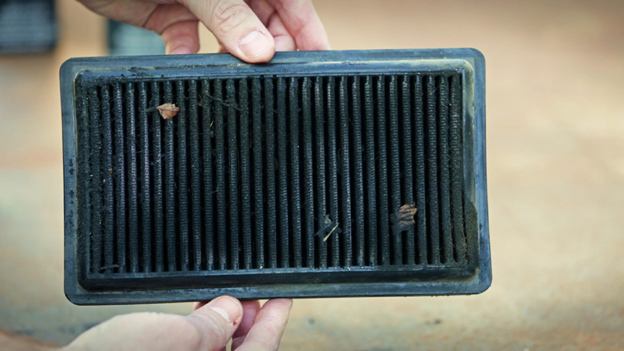 Check to see if the dirt on your K&N filter exceeds the mesh