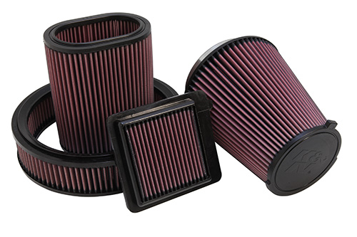 Group of oiled cotton air filters