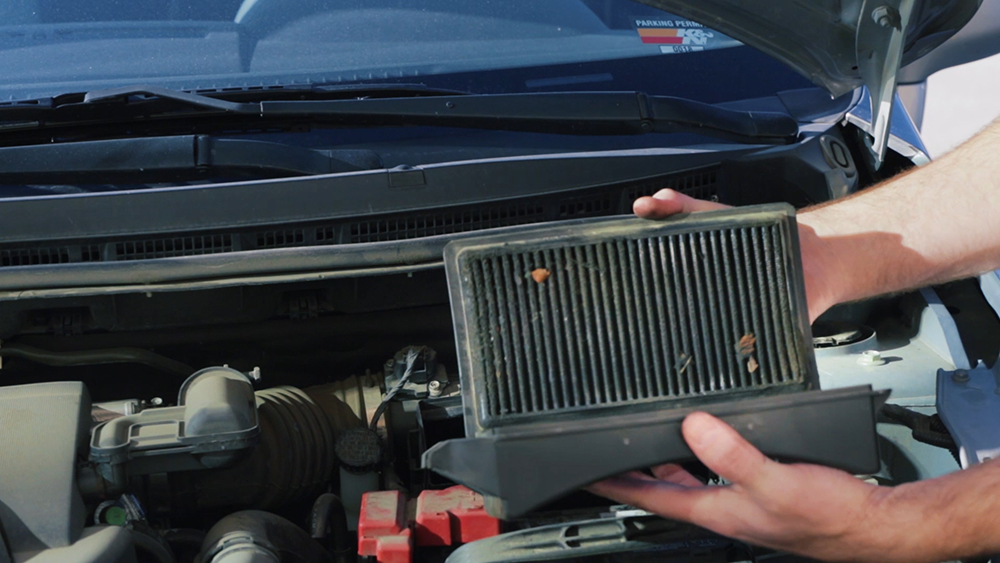 Make sure to check your engine air filter regularly