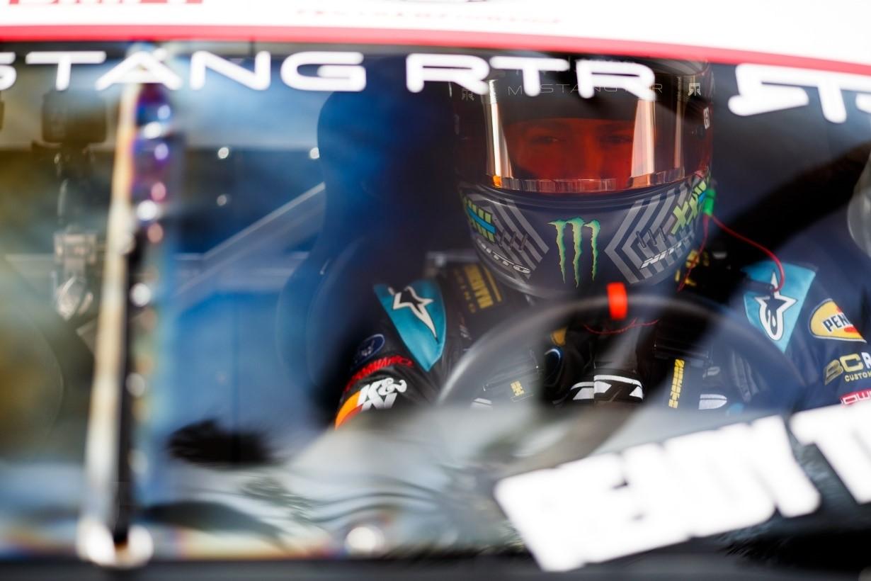 Gittin Jr. behind the wheel at Long Beach in 2018