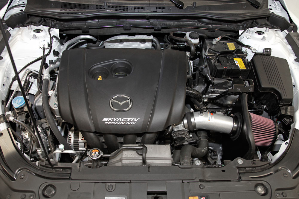2014, 2015 and 2016 Mazda 6 and Mazda 3 Skyactiv 2.5L K&N Air Intake System  Makes More PowerK&N