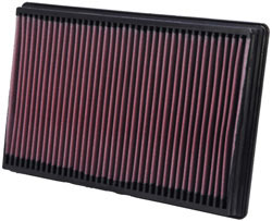 The layered and oiled cotton filter media in K&N OE Replacement Filters improve intake airflow