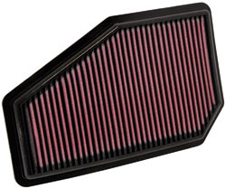 K&N 33-2948 replacement air filter for the 2007 to 2010 Honda Civic Type R four door sold in Japan and Malaysia
