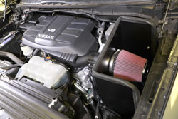 The 63-6020 intake system after installation