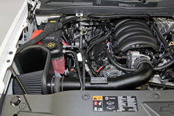 K&N Blackhawk air intake for 2014-2015 Chevrolet Silverado 1500 / GMC Sierra 1500 models & 2015 Tahoe, Yukon, Suburban or Escalade models
