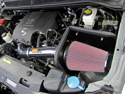 K&N intake 77-6012KP was shown to produce an estimated 7.29 street legal horsepower gain on a 2004 Nissan Titan 5.6L