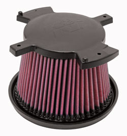 A K&N Duramax Diesel Air Filter can help reduce engine strain and maintenance