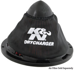 K&N Drycharger<sup>®</sup> filter wrap for the conical shaped high-flow air filter RC-5052