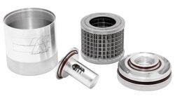 Increase Honda Civic VTEC oil flow & filtration with a reusable K&N Billet Oil Filter