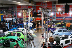 Many modified cars attended the X-Treme Show in Helsinki, Finland
