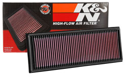 K&N 33-3039 replacement panel air filter for Citroen and Peugeot with box