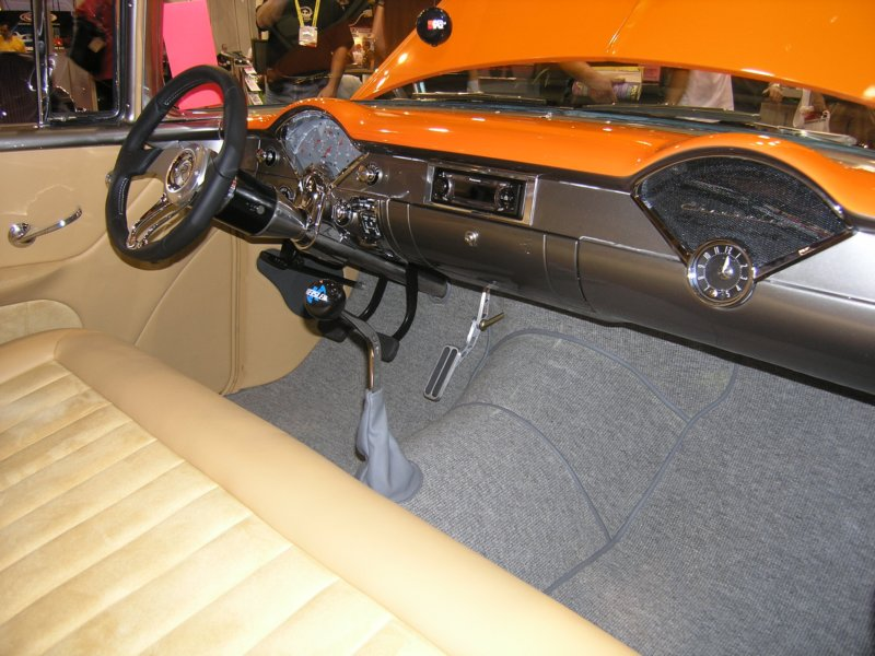 Interior of the K&N '55 Chevy