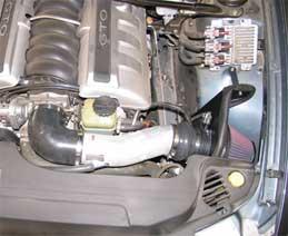 K&N Typhoon Intake System Installed in a 2005 Pontiac GTO