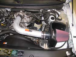 77-2557KP Air Intake Installed in a Ford F-150