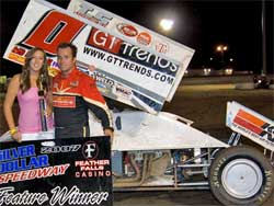 Jonathan Allard wins at Silver Dollar Speedway, photo by Steve Cox