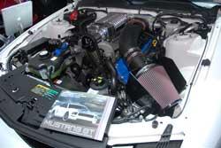 K&N Filter displayed at SEMA on Mustang GT at Ford Booth