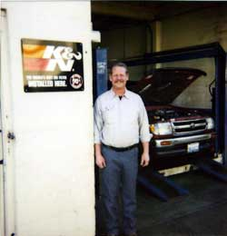 Dirk Levens Winner of K&N's Indy or Bust Contest