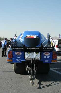 Phil Burkart's blue CSK car