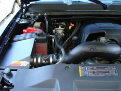 This custom 2008 Chevy Silverado 1500 is equipped with K&N Air Intake System