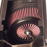 Air Filter Installed in Suzuki RM250