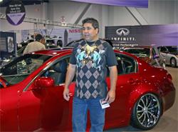 Manny de Encio of Automotive Design Concepts transported Infiniti from Huntington Beach, California to SEMA show in Las Vegas, Nevada
