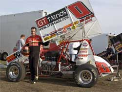 Jonathan Allard's K&N Filters No. 0 Sprint Car, photo by Steve Cox