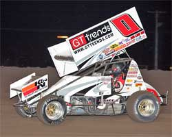 Jonathan Allard's sprint car is equipped with K&N Products