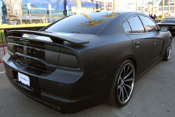 amber logue shows off custom 2011 dodge charger at sema show off custom 2011 dodge charger at sema show