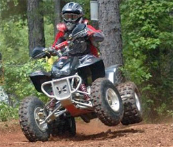 South Carolina racer Angela Horn also pilots her Honda 400EX in the Can Am Grand National Cross Country Championship Series, photo by Stacie Siegers